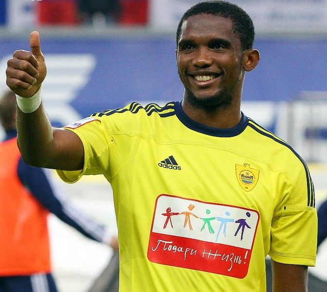 Eto'o with Anzhi Makhachkala in 2011
