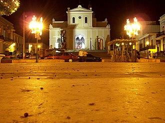 San Germán, Puerto Rico - Plaza Francisco Mariano Quiñones and the Church San Germán de Auxerre