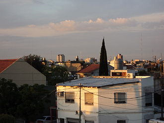 San Justo, Buenos Aires - View towards the city centre of San Justo from the residential area