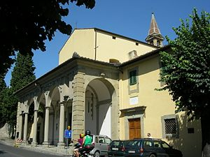 Convent of San Domenico, Fiesole - Entrance portico to the convent