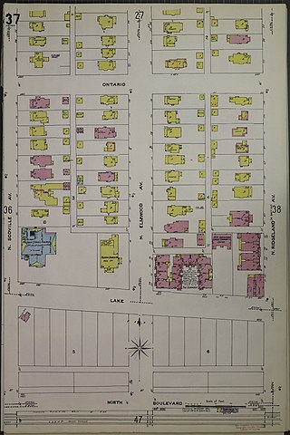File Sanborn Fire Insurance Map from Oak Park Cook County Illinois