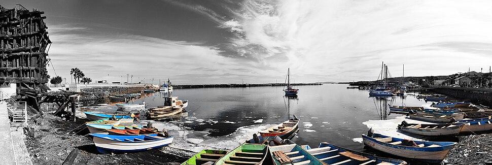 100° panorama on the waterfront of Santa Rosalía, Baja California Sur