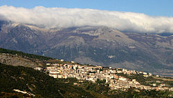 View of Saracena from Lungro