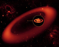 Saturn largest ring Spitzer telescope 20091006.jpg