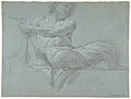 Satyr Reclining on a Ledge, Facing Right (recto); Satyr Reclining on a Ledge, Facing Left (verso) MET DP810085.jpg