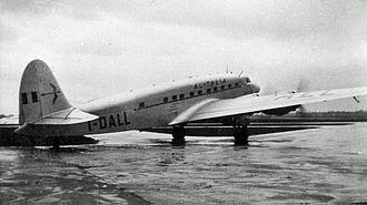 Alitalia-Linee Aeree Italiane - Alitalia Savoia-Marchetti SM.95 at Manchester in 1948
