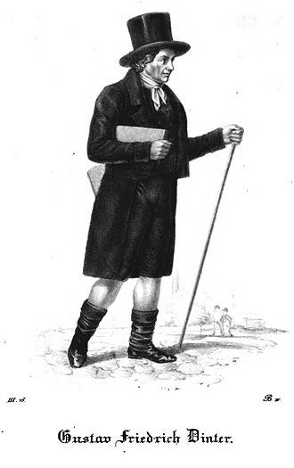 Gustav Friedrich Dinter - Lithograph, 1837