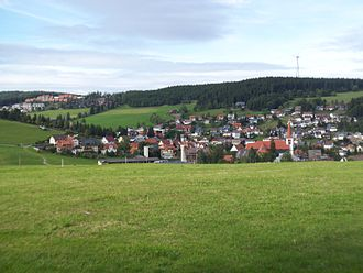 Schonach im Schwarzwald - Schonach seen from the south