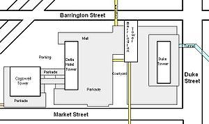 Scotia Square - Map of Scotia Square