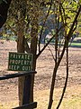Scully Ranch--Keep Out sign posted at driveway entrance.jpg