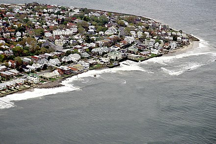 Aerial view of Epstein's childhood neighborhood of Sea Gate, Brooklyn. Sea Gate aerial view.jpg