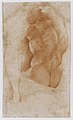 Seated Goddess Diana (recto); Studies of a Nude Male Torso Seen from the Rear, and a leg (verso) MET DR203.jpg