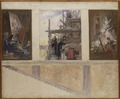 Second Proposed Decoration of the Walls in the Lower Hall of the Nationalmuseum (Carl Larsson) - Nationalmuseum - 21053.tif