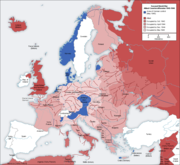 Second world war europe 1943-1945 map en