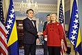 Secretary Clinton Meets With President of Bosnia and Herzegovina Zeljko Komsic (6507403825).jpg