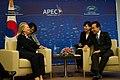 Secretary Clinton with South Korea's President Lee (7960916910).jpg