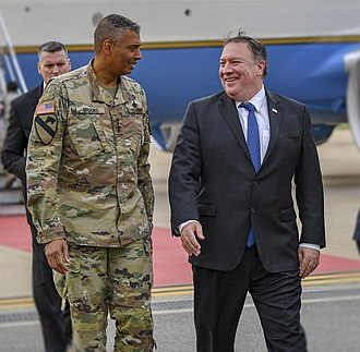 Vincent K. Brooks - Brooks with Secretary of State Mike Pompeo in 2018
