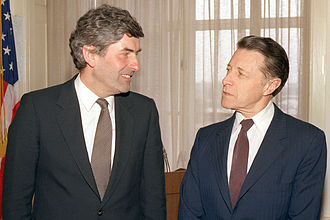 Ruud Lubbers - Ruud Lubbers and United States Secretary of Defense Caspar Weinberger at The Pentagon in 1983