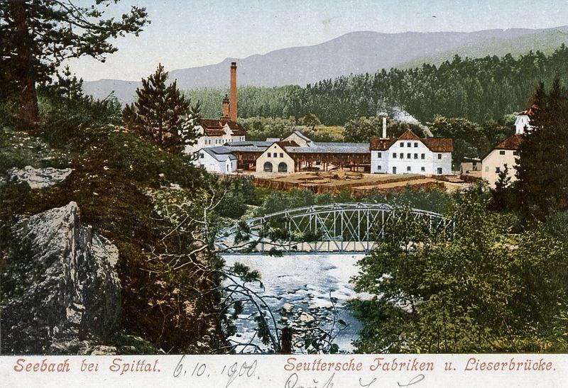 File:Seeboden Seebach Lieserbrücke um 1900.jpg