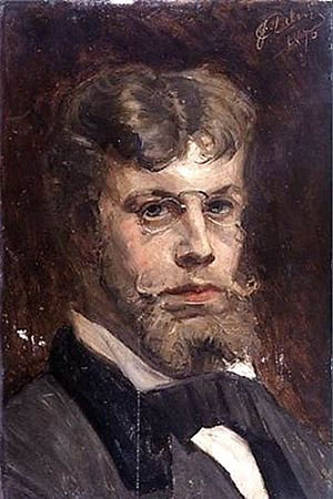 Jean Delvin - Self-portrait (1876)