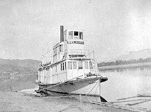 Selkirk (sternwheeler 1895) - Selkirk in interior British Columbia ca 1900