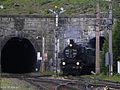 Semmering - Semmeringbahn - Semmeringtunnel mit Dampflok 109-13.jpg