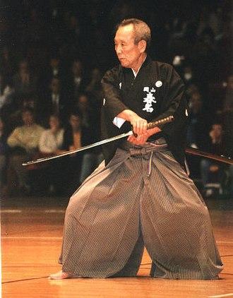 Iaido - Haruna Matsuo sensei (1925–2002) demonstrating Muso Jikiden Eishin Ryu kata Ukenagashi