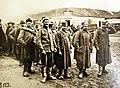 Serbian troops, now prisoners-of-war in Belgrade of Austro-Hungarian forces, 1915 (21780846970).jpg