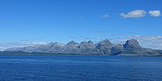 Helgeland - The Seven Sisters in Alstahaug.