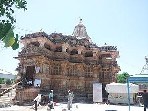 Shamlaji - The temple complex - side view