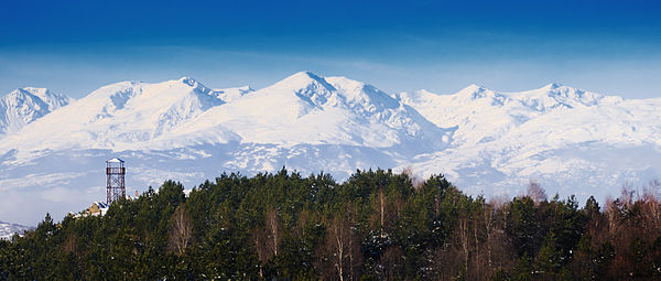 Šar Mountains seen from the Vodno Mountain