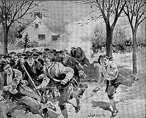 Shays forces flee Continental troops, Springfield.jpg