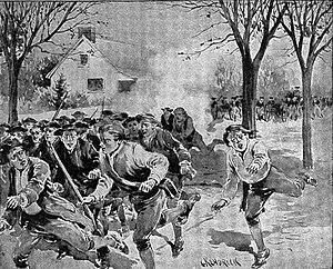 Le forze di Shays fuggono dalle truppe continentali, Springfield.jpg