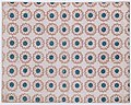 Sheet with overall pattern of pink flowers with blue centers Met DP886435.jpg