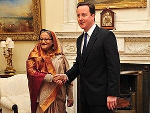 Sheikh Hasina - Hasina with David Cameron in London (January 2011)