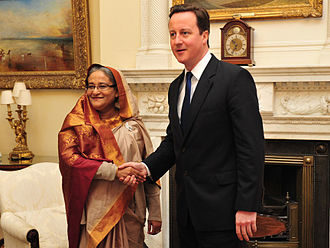 Sheikh Hasina - Hasina with David Cameron in London (January 2011)