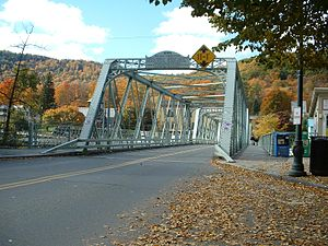 Buckland, Massachusetts - Shelburne Falls Truss Bridge carries Routes 2A and 112 across the Deerfield River
