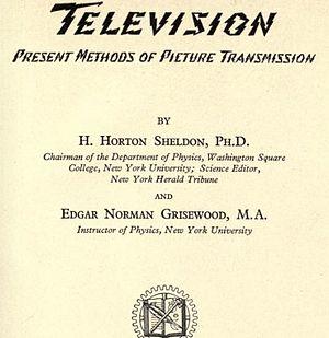 "Harold Horton Sheldon - ""Television"" by H H Sheldon"