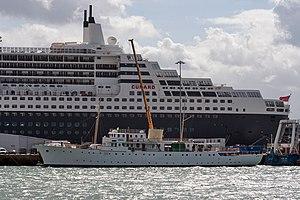 Bernard Docker - MY Shemara seen at Southampton Docks.