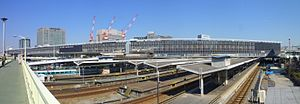 Shin-Osaka station - sunny day - panorama - April 6 2011.jpg