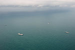 Ships searching for AirAsia Flight QZ8501 wreckage in the Java Sea, 7 January 2015.JPG