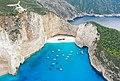 Shipwreck at Navagio Beach Zakynthos Greece (45557496695).jpg