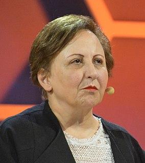 Shirin Ebadi Iranian lawyer, human rights activist, and Nobel Peace Prize recipient