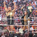 ShoMiz at Wrestlemania XXVI after title defence.jpg