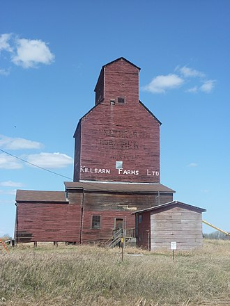 Beaver County, Alberta - Killean Farms Ltd. grain elevator in Shonts.