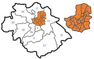 Shrewsbury and Atcham - Image: Shrewsbury Wards