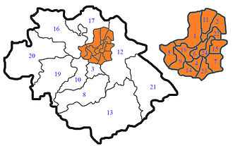 Shrewsbury and Atcham - Image: Shrewsbury Wards