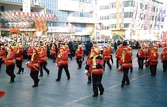 Shuangyashan - New Year's Parade in February 2002