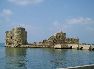 Sidon - Sidon Sea Castle, built by the Crusaders in AD 1228