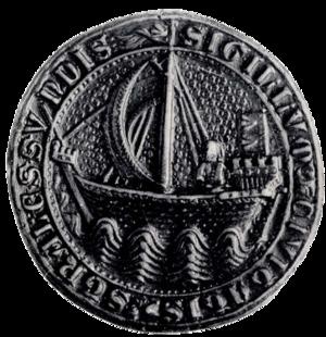 Hanseatic flags - Image: Siegel Stralsund 1329.preview
